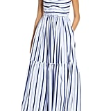 J.Crew Shirting Stripe Tiered Maxi Dress