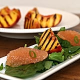 Grilled Peach Salad With Grapefruit