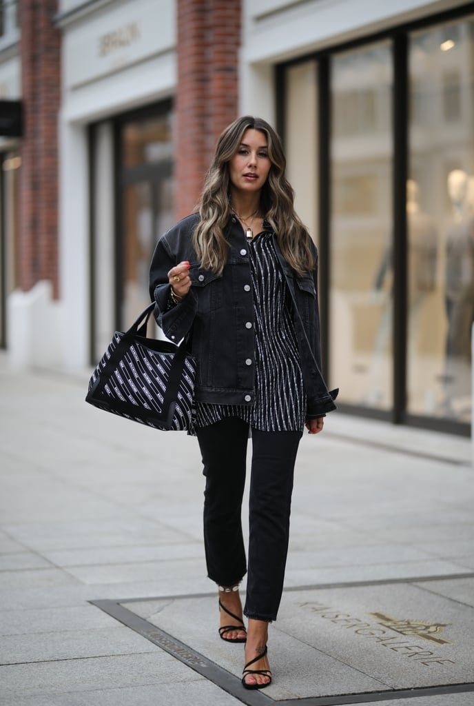 Pair Black Strappy Sandals With Black Jeans, and Separate Them With an Ankle Bracelet