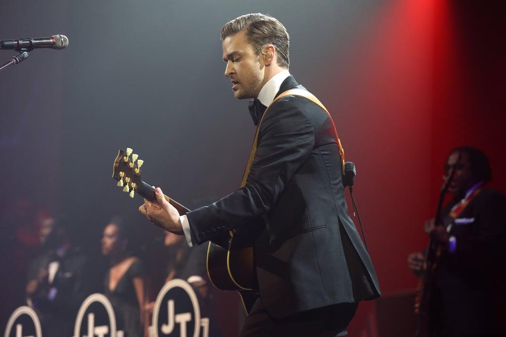 Justin Timberlake performed at DIRECTV Super Saturday night in New Orleans.