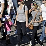 Reese Witherspoon with Ava at Disneyland.