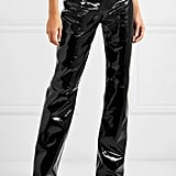 16ARLINGTON Patent Leather Straight Leg Pants