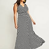 Lane Bryant Chevron-Stripe Maxi Dress