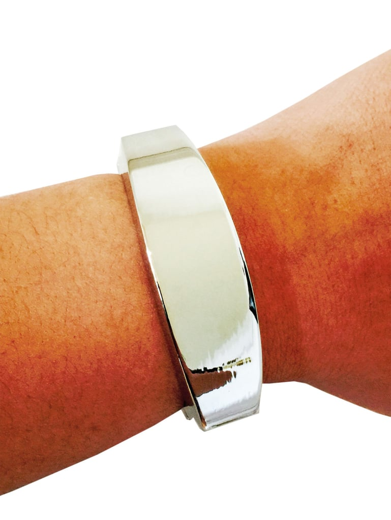 This silver Fitbit Flex bracelet ($40) will disguise your mom's fitness tracker, making daily wear a lot more stylish.