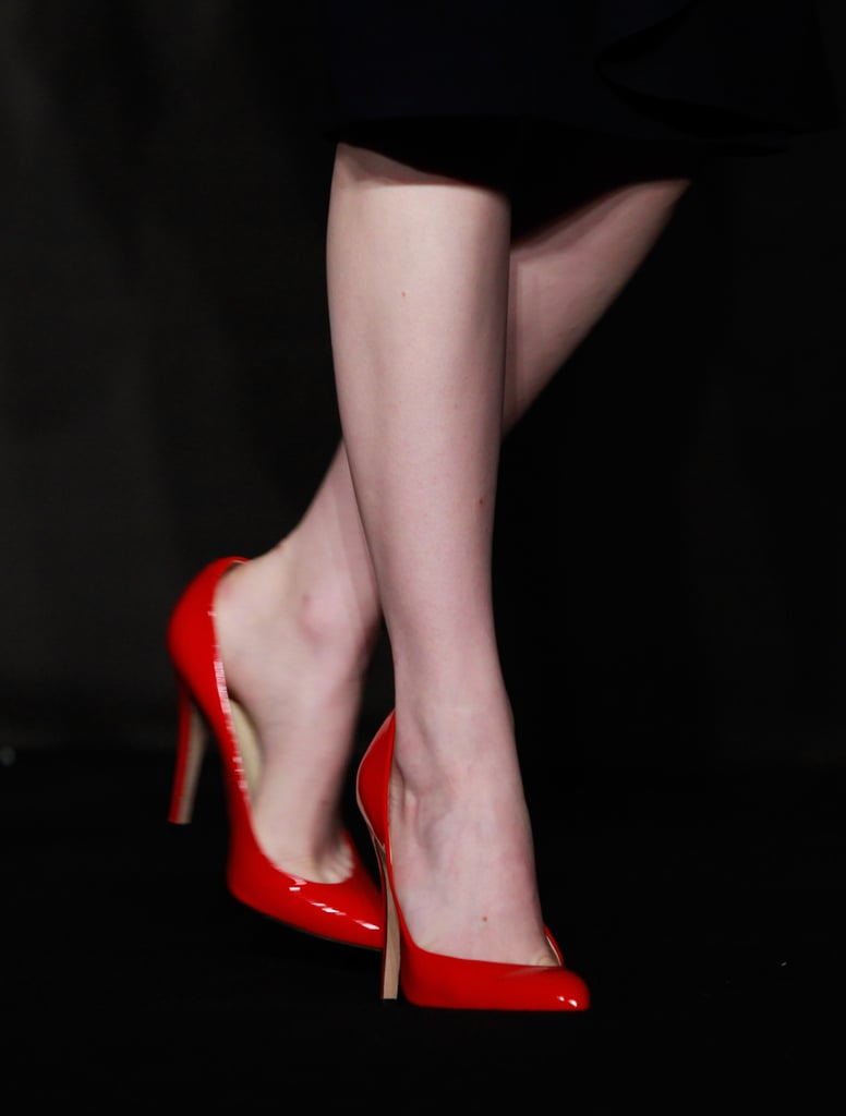 What a siren statement these red Brian Atwood heels make!