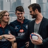 Chris Hemsworth and Hong Kong Rugby Team April 2016