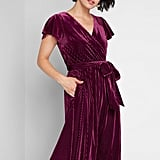 Timeless Embrace Velvet Midi Dress