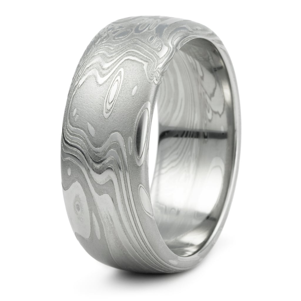 Damascus Steel Men's Wedding Band ($615)