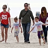 Britney Spears and her sons, Sean Preston and Jayden James, spent a day on the beach in Santa Barbara on Saturday.