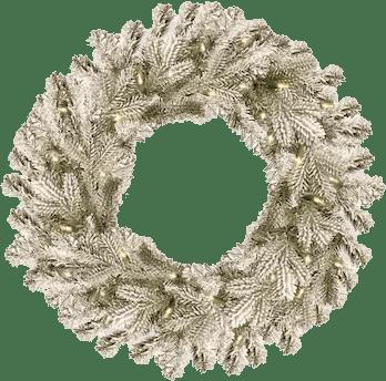 National Tree Company Snowy Sheffield Spruce Wreath
