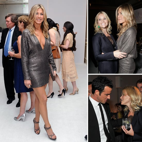 Jennifer Aniston Wears Jaw-Dropping, Low-Cut Dress For Elle's Women in Hollywood Event
