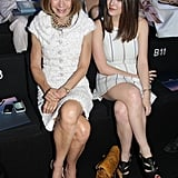 Side by side once again, Anna Wintour and daughter Bee Shaffer were both dressed in white for Armani Privé.