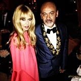 Rachel Zoe posed with Christian Louboutin at a Golden Globes after party. Source: Instagram user rachelzoe