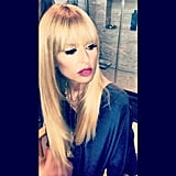 Rachel Zoe showed off a sleek hair and makeup look. Source: Instagram user joeymaalouf