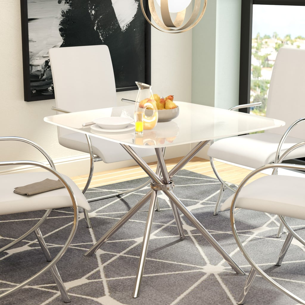 For a Geometric Statement: Orren Ellis Mahaney Dining Table Set