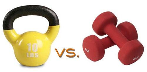kettlebells vs dumbbells which is better popsugar fitness