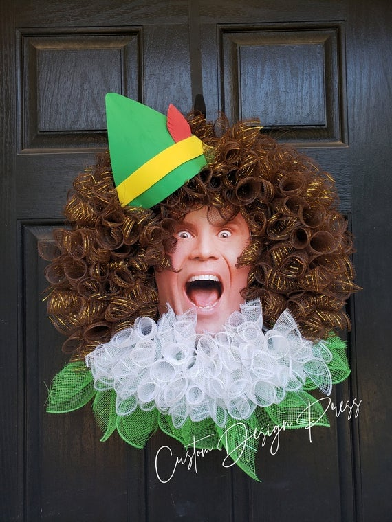 Etsy Buddy the Elf Wreath