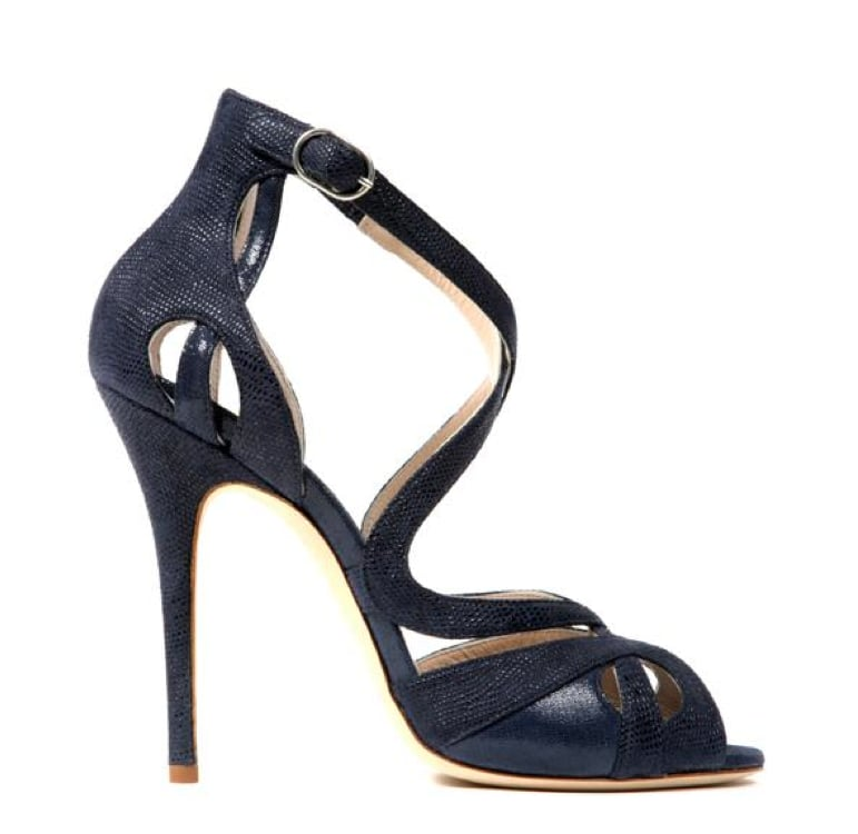 Monique Lhuillier Midnight Burma/Piper Combo Sandal ($895)