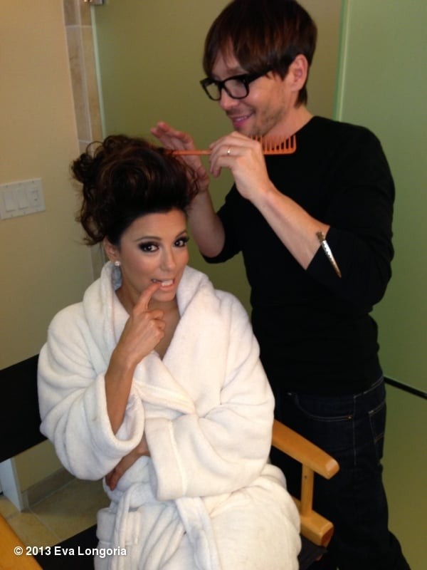 Eva Longoria got her hair done by Ken Paves. Source: Eva Longoria on WhoSay