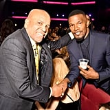 Pictured: Berry Gordy and Jamie Foxx