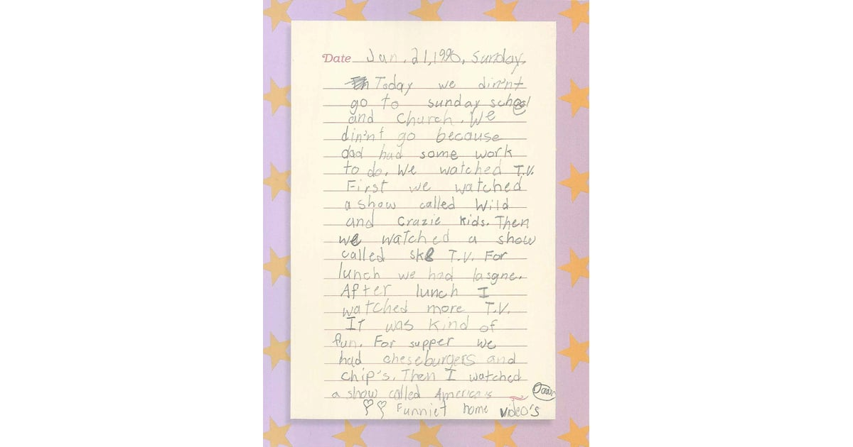 My 1992 Diary Book Excerpt | POPSUGAR Entertainment Photo 7