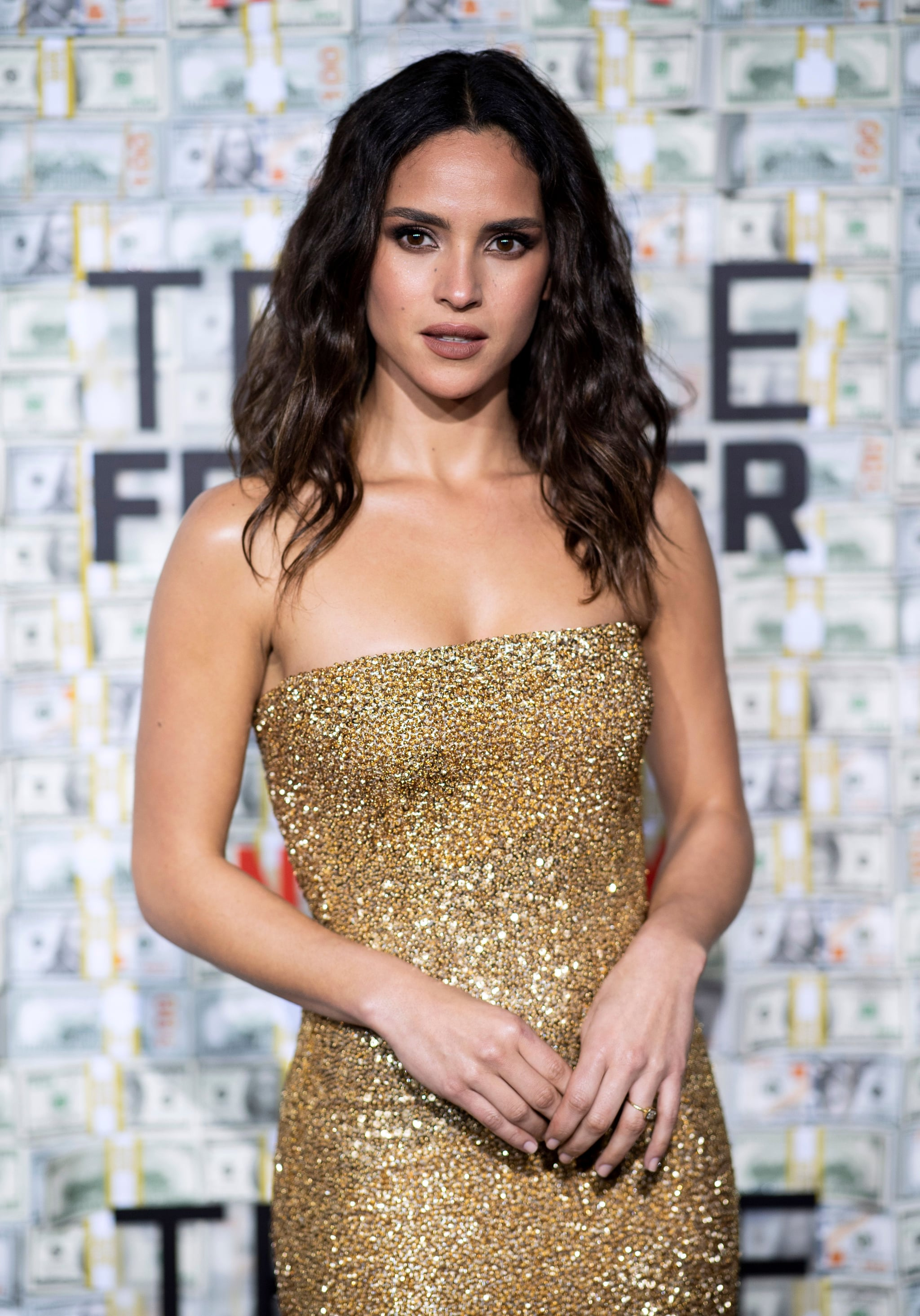 Pictured: Adria Arjona | I'm Curious, What's Ben Affleck Whispering to Charlie Hunnam at the Triple Frontier Premiere? | POPSUGAR Celebrity Photo 12