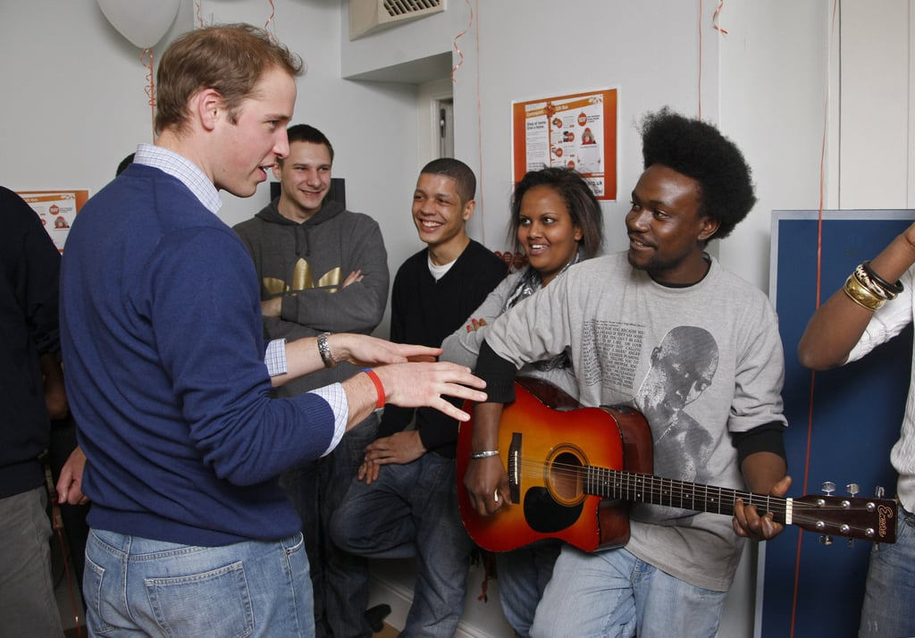 Photos of Prince William at Centrepoint