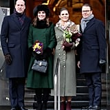 On the First Day, Kate Wrapped Up Warmly to Go to the Museum in Stockholm