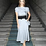 Barbara Palvin at the Giorgio Armani Milan Fashion Week Show
