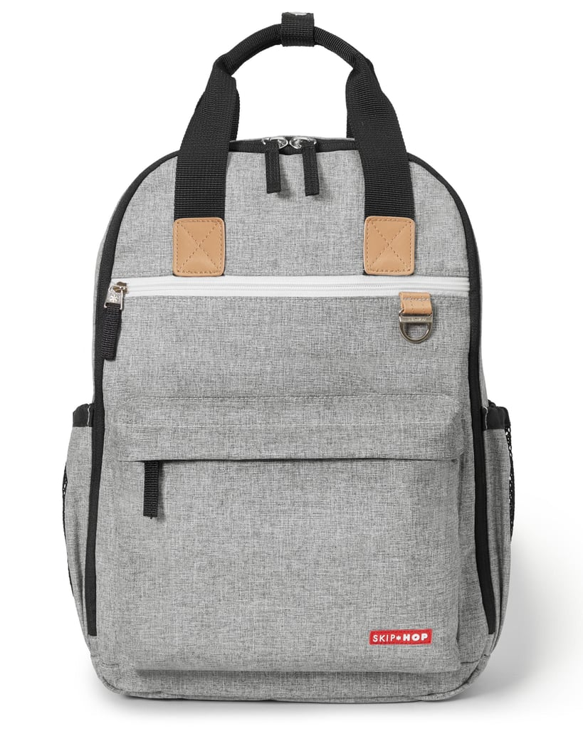Skip Hop Duo Backpack in Grey Melange