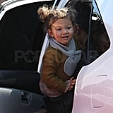 Photos of Halle and Nahla at the Grocery Store