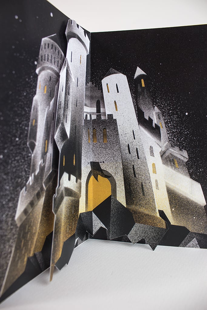 OMG, HOGWARTS! A 3D pop-up and details galore perfectly capture the most prestigious college of wizardry.