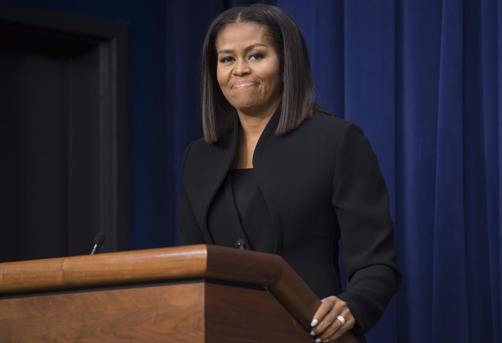 Michelle Obama's Brandon Maxwell Suit December 2016