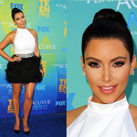 Kim Kardashian in Givenchy at 2011 Teen Choice Awards 2011-08-07 17:36:19