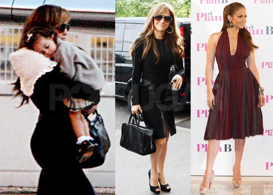 Pictures of Jennifer Lopez and Emme Anthony Leaving Paris Heading to Madrid