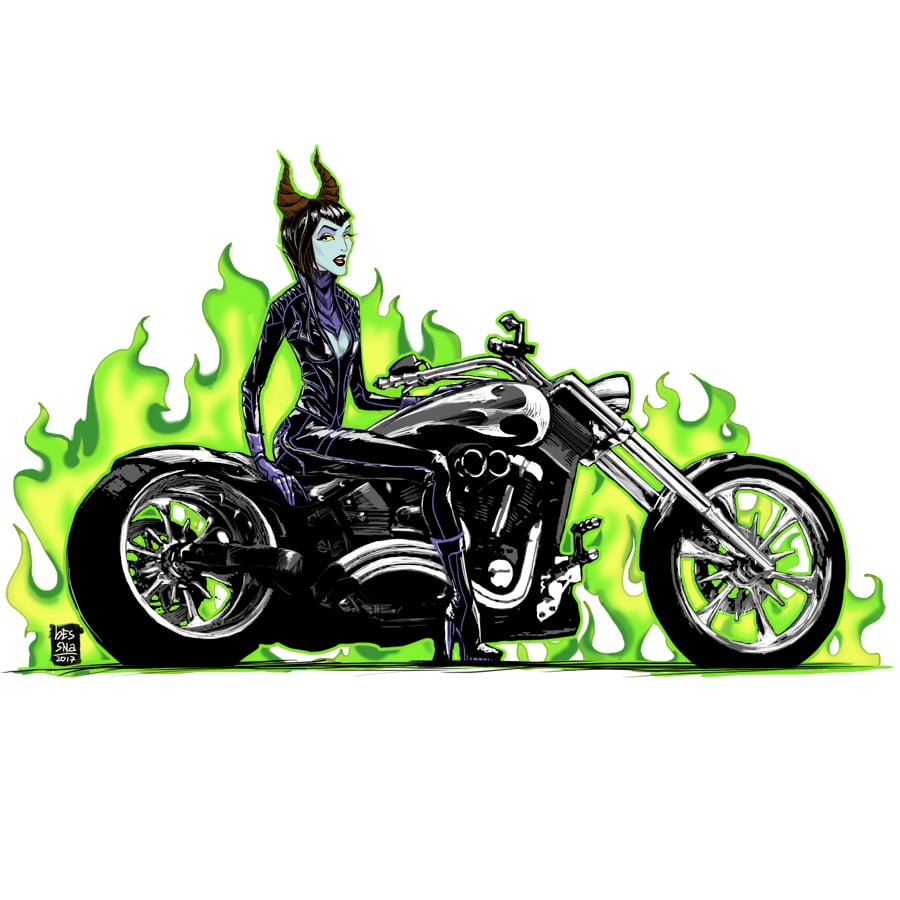 Maleficent Looks Even More Badass While Riding This Motorcycle