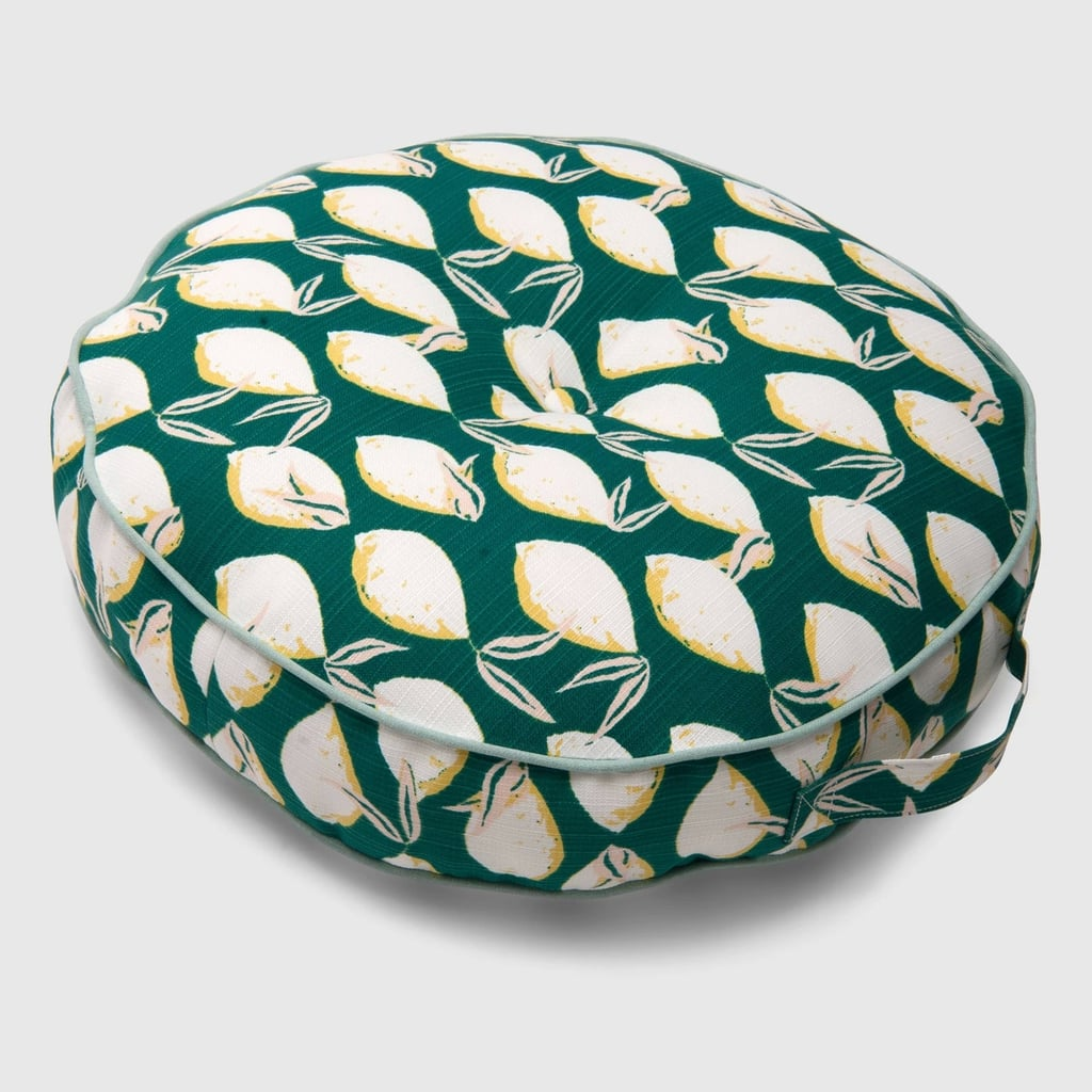 Lemons Round Outdoor Floor Cushion