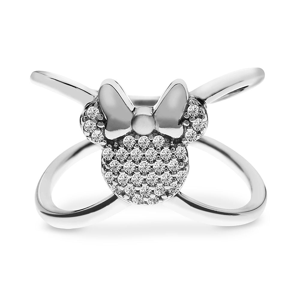 Sterling silver Minnie Mouse X Ring ($75)
