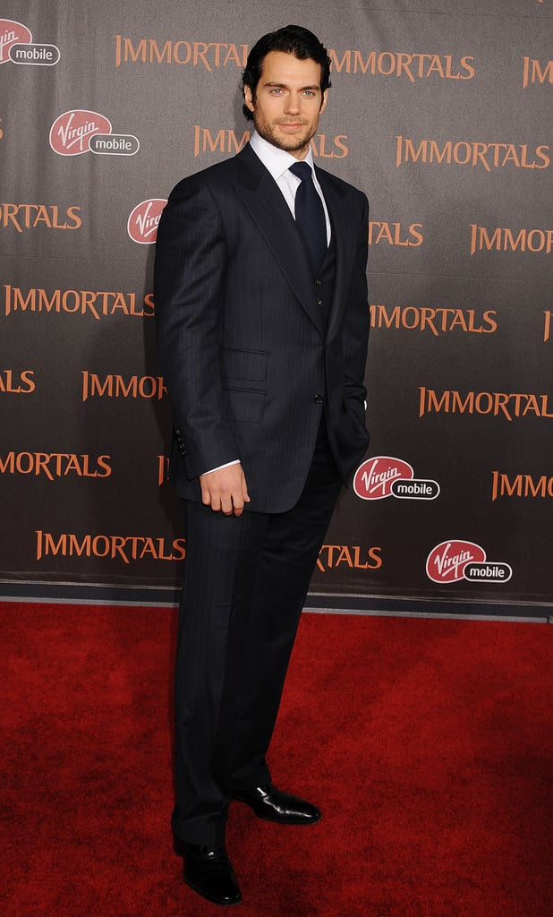 Henry Cavill at the Nokia Theater for the LA premiere of Immortals.