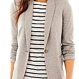 Liz Claiborne long-sleeve knit blazer ($50) is just the right neutral hue.