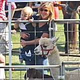Reese Witherspoon held Tennessee Toth during a visit to the Brentwood Corn Festival.