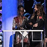 During the show, it became clear Jared Leto was entranced by Lupita Nyong'o.
