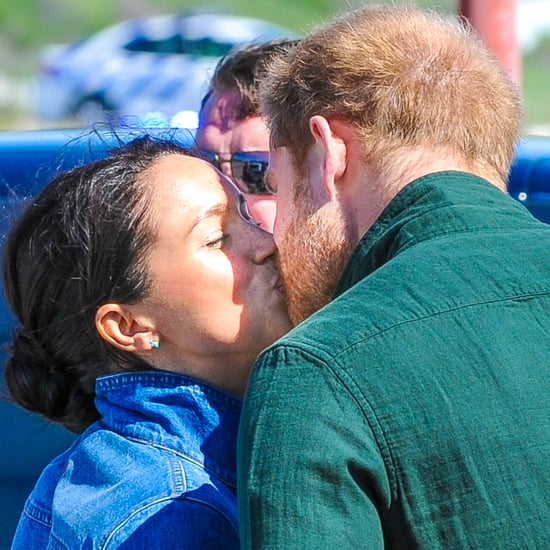 Meghan Markle and Prince Harry Kissing in Cape Town Pictures
