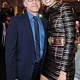Christoph Waltz greeted Karolína Kurková at IWC Schaffhausen's For the Love of Cinema party on Sunday night in Cannes .
