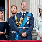 The young royals then reunited in July for celebrations marking the centenary of the Royal Air Force.