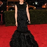Cate Blanchett Goes Dark to the Met Gala in Black Feathered McQueen
