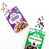 Girl Scout Cookies Cereal in Thin Mints and Caramel Crunch