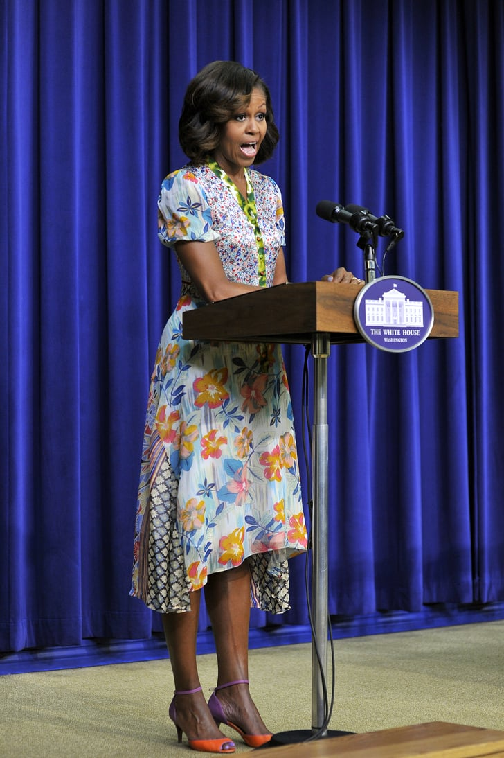 Michelle Obama spoke at the screening in Washington DC on Tuesday.