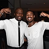 He compared muscles with Terry Crews during a Men's Fitness event in September 2014 — we'd say they're about even.