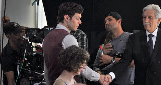 Adam Brody shook hands with a costar.